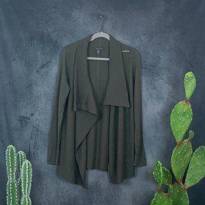 Tahari Sweaters - CLEARANCE 🆕Tahari Wool Blend Wrap Cardigan Green